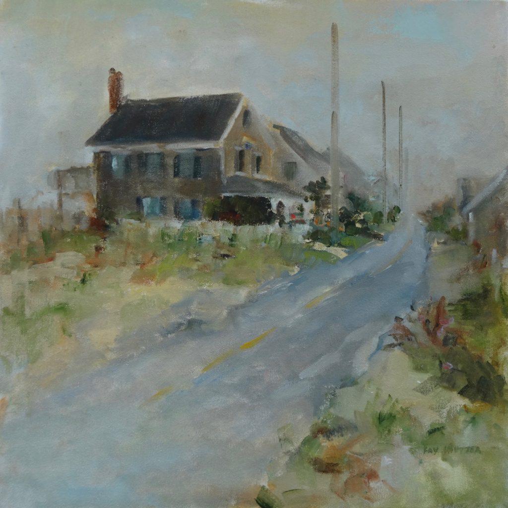 Gray House in Fog
