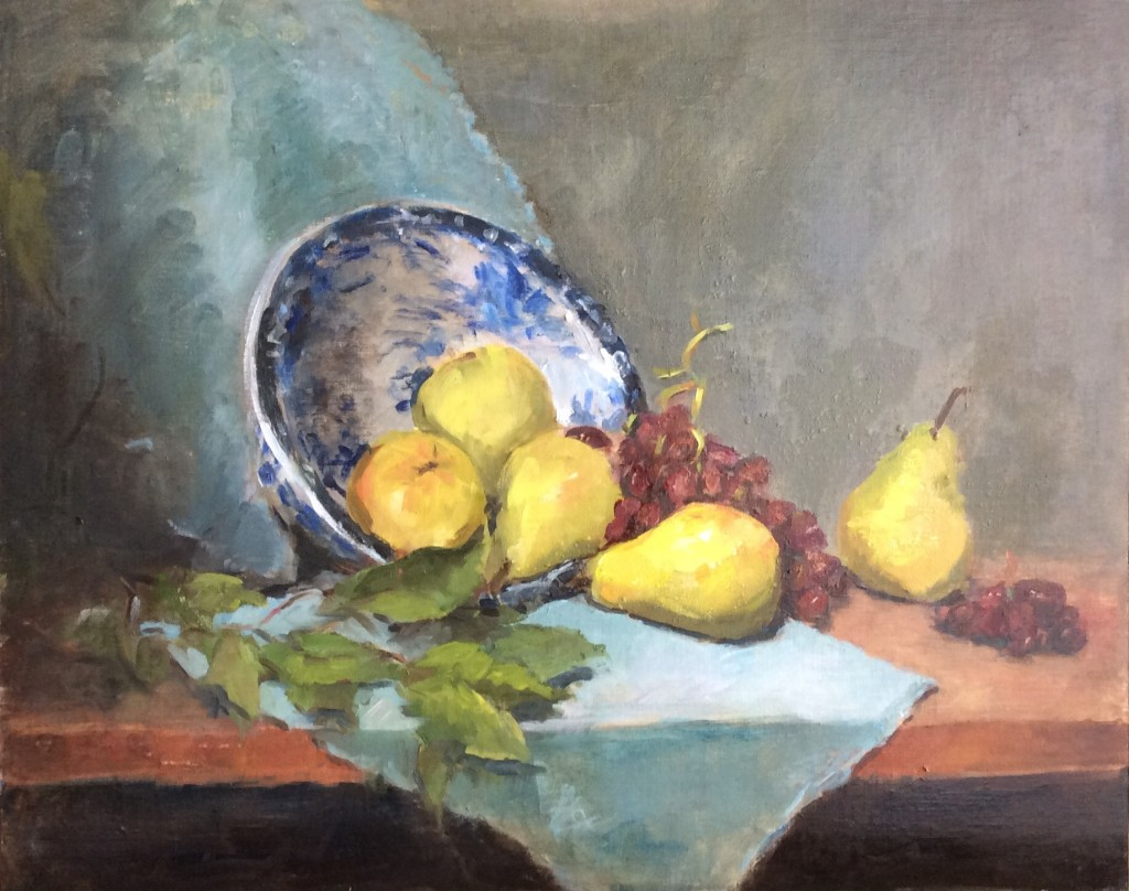Still Life with Blue China Bowl