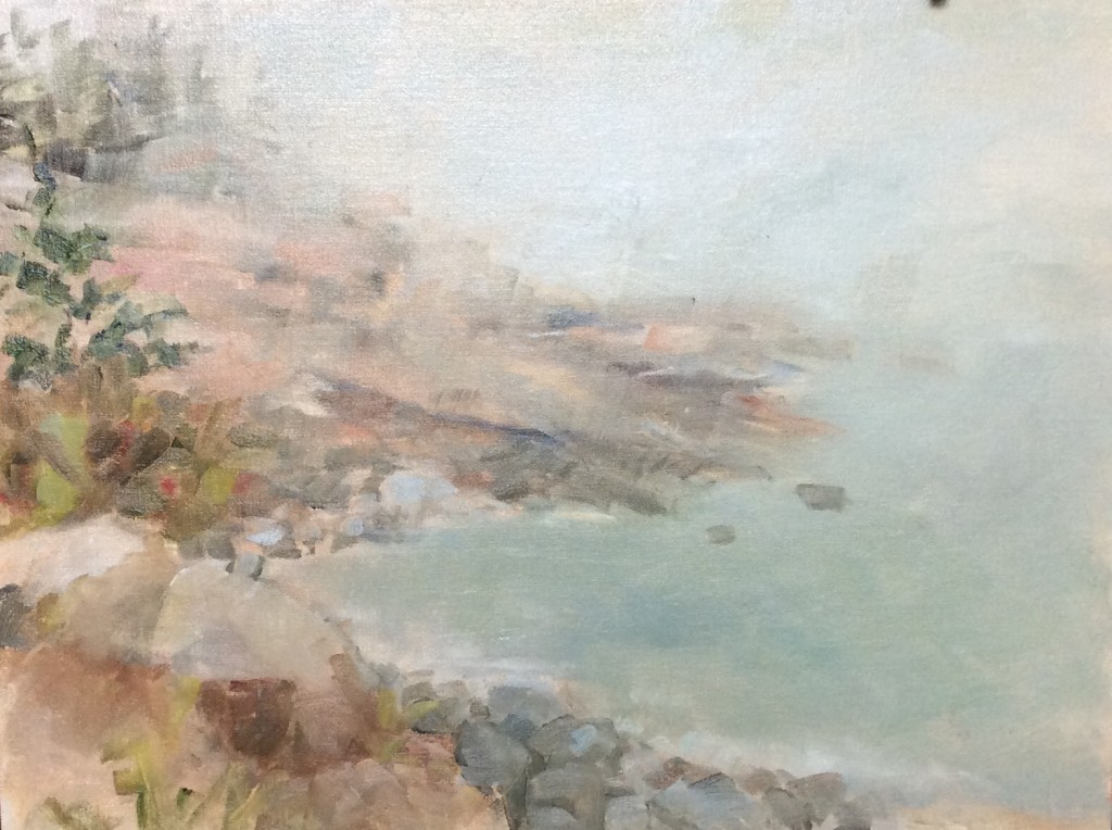Six days of plein air painting in Acadia National Park in Maine